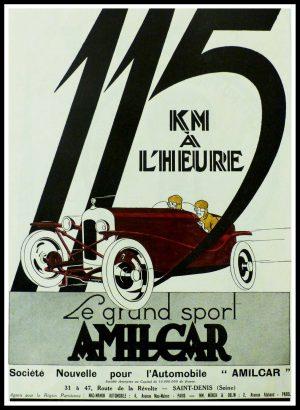 """(alt=""""original vintage advertising car AMILCAR Le grand sport Anonymous 1935"""")"""