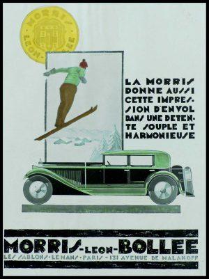 "(alt=""original vintage advertising car MORRIS LEON BOLLEE Anonymous 1933"")"