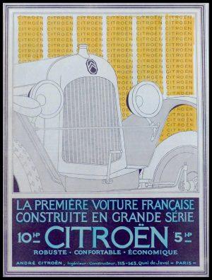 """(alt=""""original vintage advertising car automobiles André CITROEN anonymous 1930"""")"""