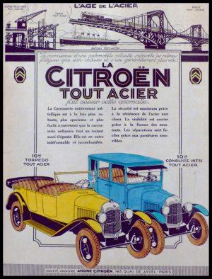 """(alt=""""original vintage advertising car from newspaper automobiles LA CITROEN TOUT ACIER anonymous 1930"""")"""