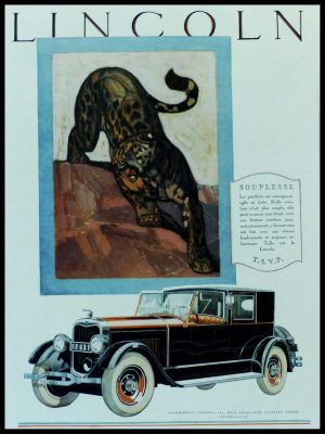 """(alt=""""original vintage advertising car from newspaper LINCOLN Anonymous 1930"""")"""