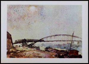 """(alt=""""heliogravure pont de PARIS, passerelle de Bercy, René KUDER 1946 Limited edition"""")"""