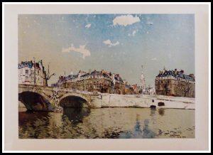 "(alt=""héliogravure René KUDER, bridges of PARIS, signed in the plate, printed by LAHURE 1946, limited edition"")"