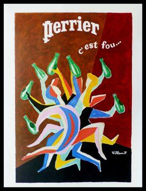 "(alt=""original offset, Bernard VILLEMOT, PERRIER c'est fou, la danse, signed in the offset, circa 1980"")"