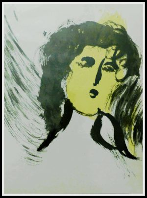 """(alt=""""Original lithography Marc CHAGALL, Bible - l'ange 1960 , Limited Edition """")"""