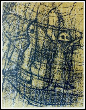 """(alt=""""original lithography Max ERNST unsigned, limited edition, un chant d'amour, printed by MOURLOT"""")"""