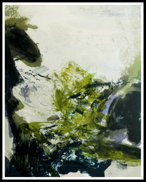 """(alt=""""ZAO WOU-KI, original lithography, abstract composition, 1971, limited edition, printed by Mourlot Paris"""")"""