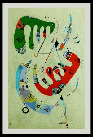 """(alt=""""KANDINSKY, lithography, Composition III, monogrammed and dated in the plate, printed by MOURLOT Paris"""")"""