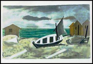 "(alt=""original lithography pochoir Georges BRAQUE 1959, Varengeville Normandy, printed by Daniel JACOMET, limited edition"")"