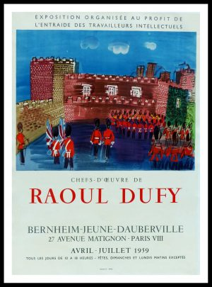 "(alt=""original vintage poster lithography Raoul DUFY BERNHEIM JEUNE DAUBERVILLE signed in the plate printed by MOURLOT Paris"")"