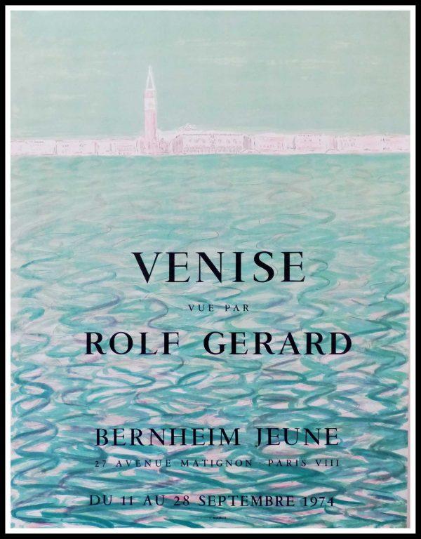 "(alt=""Rolf GERARD - VENISE, Italy - Gallery BERNHEIM, original gallery poster printed by Mourlot 1974"")"