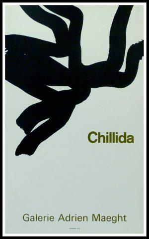 "(alt=""CHILIDA - Galerie Adrien MAEGHT Paris, original gallery poster printed by MOURLOT Paris, circa 1970"")"