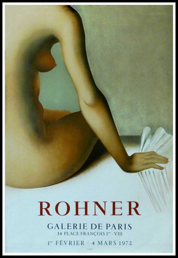 "(alt=""ROHNER - Galerie de Paris, original gallery poster printed by MOURLOT 1970"")"