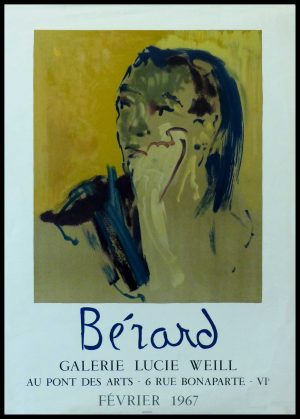 "(alt=""Christian BERARD - Gallery Lucie Weill, BERARD - original gallery poster printed by Mourlot Paris, 1967"")"
