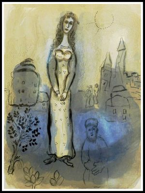 """(alt=""""original lithography Marc CHAGALL, Bible - ESTHER 1960, unsigned, limited edtion and printed by MOURLOT Paris"""")"""