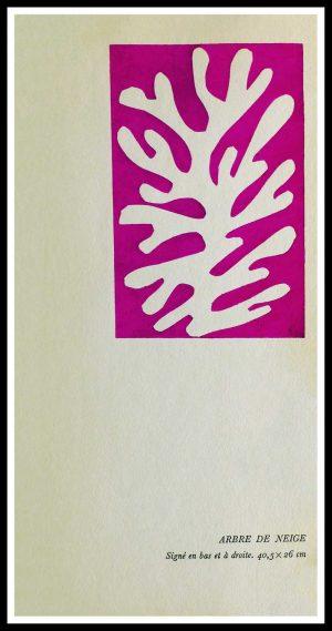"(alt=""original stencil Henri MATISSE - Arbre à Neige, 1953, printed by Mourlot, 1000 copies, catalogue Berggruen"")"