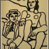 """(alt=""""Lithographie de Fernand Léger """"Les deux amoureux"""" 1952 imprimé par Mourlot, Paris. 1000 exemplaires, edition limitée"""")"""