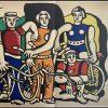 """(alt=""""pochoir originale """"Les cyclistes"""" 1952 de Fernand Léger imprimé par Mourlot, Paris. 1000 exemplaires - Edition limitée"""")"""