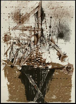 """(alt=""""Lithographie originale Johnny FRIEDLAENDER - Les Oiseaux, 1973. Non signée, imprimée par Mourlot, édition limitée"""")"""
