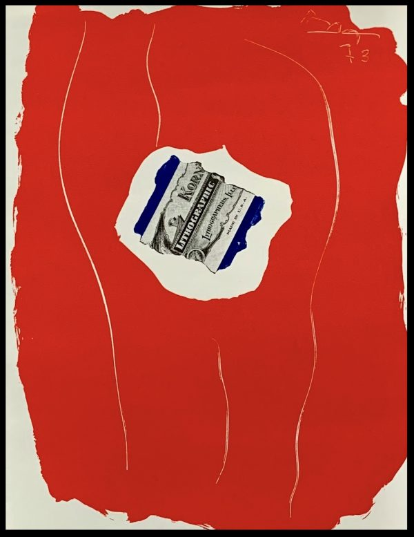 """(alt=""""Original lithography MOTHERWELL, Tricolor, 1973 , Signed and dated in the plated, printed by MOURLOT. 2000 copies, limited edition"""")"""