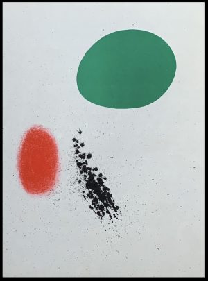 """(alt=""""Original lithography, Joan Miro, Composition 1961, printed by les Ateliers Mourlot, Paris"""")"""