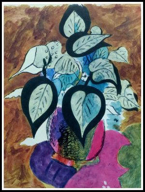 """(alt=""""Lithographie Georges BRAQUE, CARNETS INTIMES II taille 35.5 x 27 cm signé dans la planche Imprimerie Mourlot 1955"""")"""