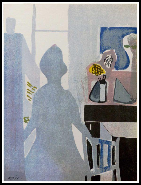 """(alt=""""Fransisco BORES 35 x 26 cm 1952 edition limitée 6000 copies signé dans la planche Imprimerie MOURLOT"""")"""