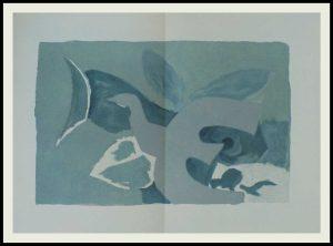 """(alt=""""Georges BRAQUE lithographie 56 x 38 cm pli au milieu comme publié Les oiseaux IV non signé Imprimerie ARTE 1967"""")"""