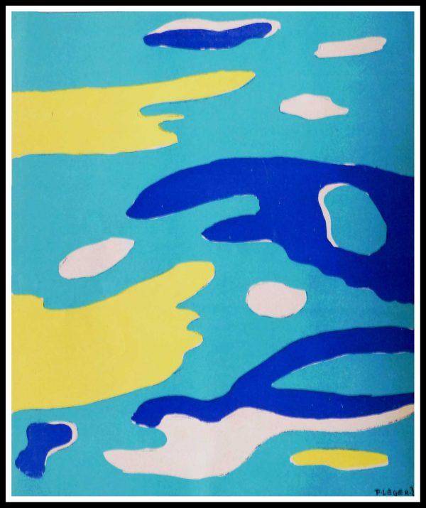 """(alt=""""lithographie, Fernand LEGER, L'eau, 1937 Imprimerie ARTE Paris"""")"""