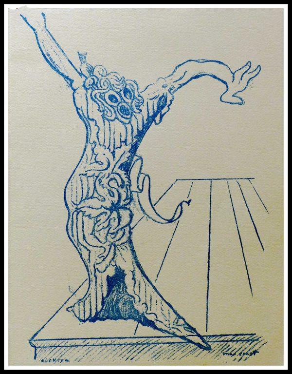 """(alt=""""Lithographie Originale Max ERNST, 1958, Elektra 31.5 x 24.5 cm 1500 copies, Imprimerie Mourlot"""")"""