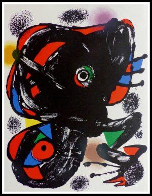 """(alt=""""original lithograph Joan MIRO, composition abstraite, 1976 Imprimée par A. Maeght, édition limitée"""")"""