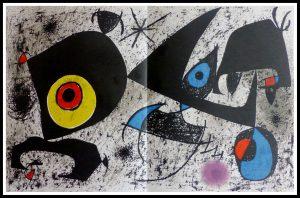 """(alt=""""lithographie originale Joan MIRO, Oeil magique, 1972, imprimée par MOURLOT, édition limitée"""")"""