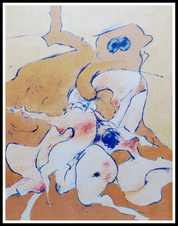 """(alt=""""original lithograph, Dorothea TANNING - untitled- printed by Mourlot, limited edition,1974"""")"""