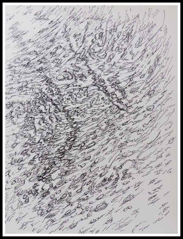 """(alt=""""lithographie originale, Henri MICHAUX, dessins 1955, imprimerie Union, 1956, édition limitée"""")"""