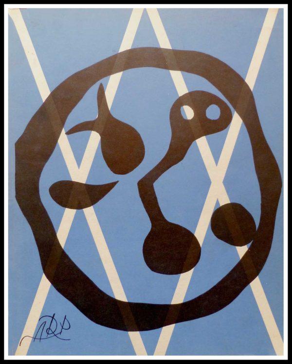 """(alt=""""lithographie originale, Jean ARP, Composition, signée dans la planche, Imprimerie MOURLOT, Edition Limitée 1955"""")"""