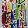 """(alt=""""Pablo PICASSO - l'atelier de Cannes, 1958, signée et datée dans la planche, imprimée par Mourlot Paris"""")"""