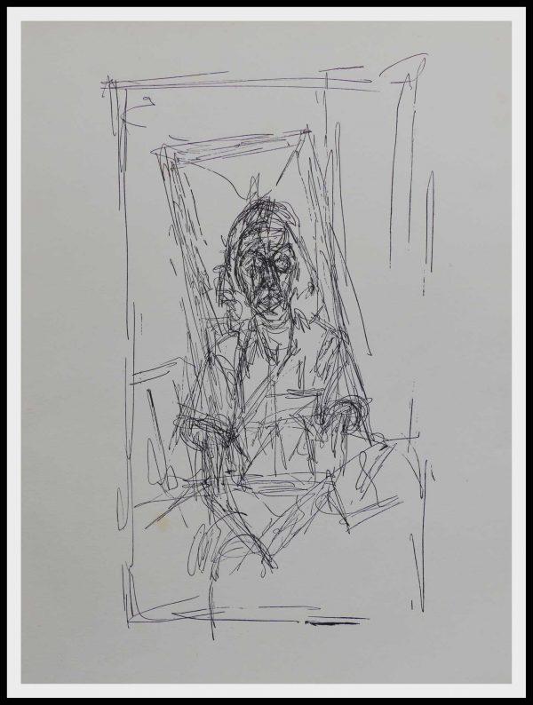 "(alt=""GRAVURE originale Alberto GIACOMETTI 31.5 x 24.5 cm Portrait Imprimerie Union 1500 copies 1956"")"