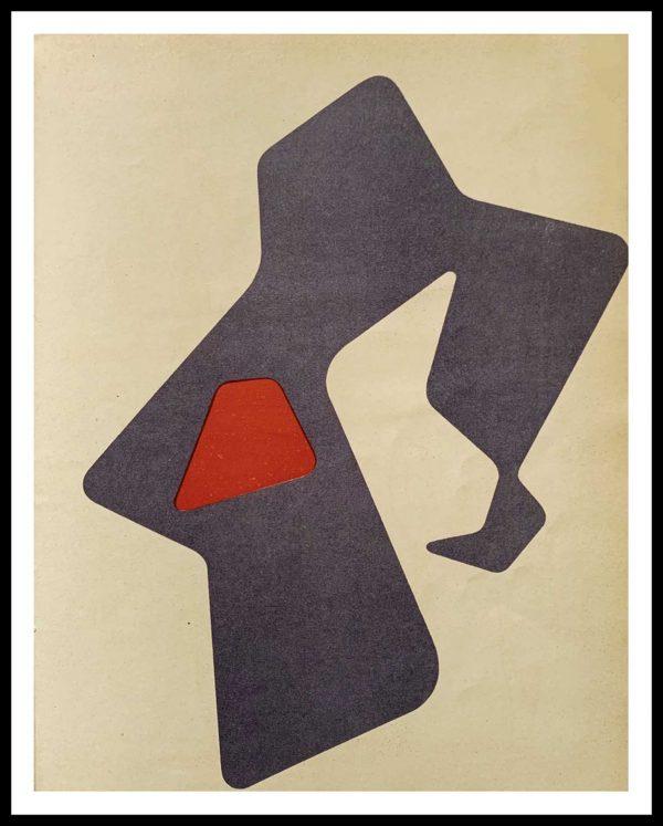 """(alt=""""Lithographie originale 31.5 x 24.5 cm Jean ARP 1951 LE HEAUME Imprimerie DESJOBERT 1500 Copies"""")"""