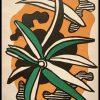 """(alt=""""Lithographie originale Fernand LEGER 31,5 x 24.5 La Fleur 1952 Imprimerie Mourlot 1500 copies"""")"""